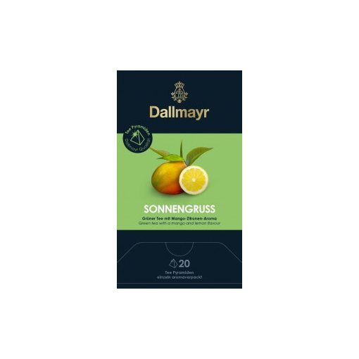 Dallmayr Nap Üdvözlő zöld tea 20db (teapiramis)