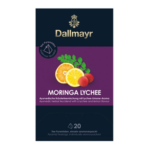 Dallmayr Moringa-Licsi ayurvéda tea 20db (teapiramis)