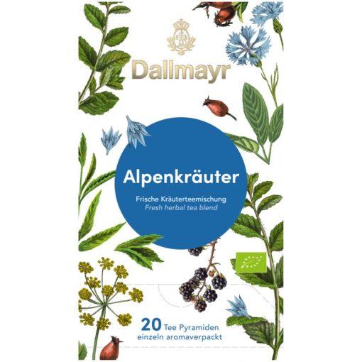 Dallmayr Alpesi gyógynövény tea 20db (teapiramis)