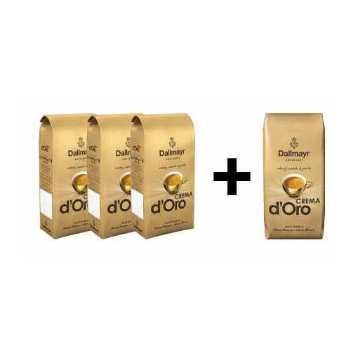 3 + 1 Dallmayr Crema dOro 4x500 g  szemes kávé