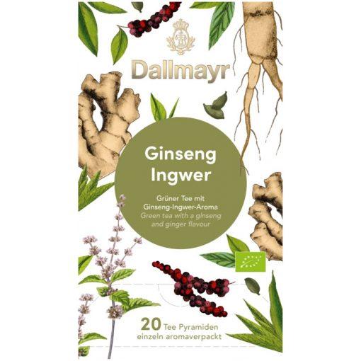 Dallmayr Ginzeng-Gyömbér zöld tea 20db (teapiramis)